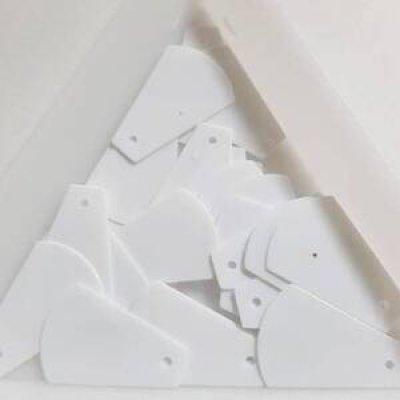 画像1: スパンコール1344 トップホール17mm ホワイト 1g【在庫限り】
