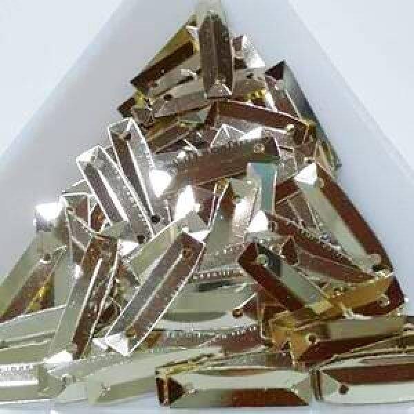 画像1: スパンコール限定222 山折長方形2穴 ゴールド 1g (1)