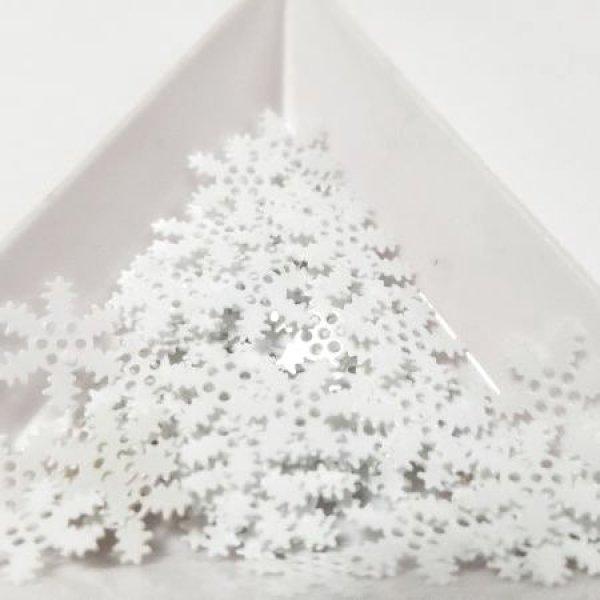 画像1: スパンコール1303 ホワイト スノー 11ミリ 1g (1)