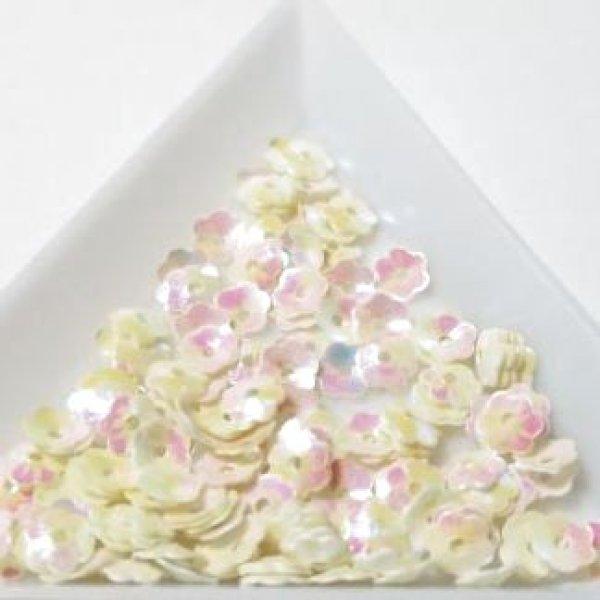 画像1: スパンコール1398 プリンセスフラワー5mm ホワイト1g (1)