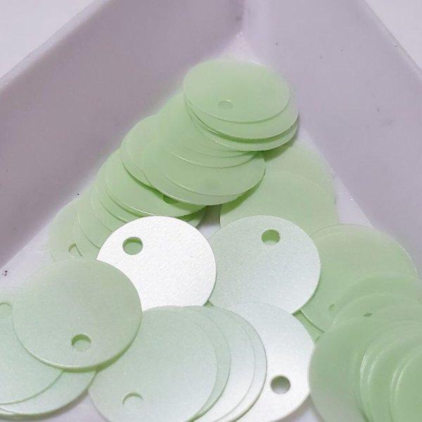 画像1: スパンコール1207 トップホール10mm グリーン 1g (1)