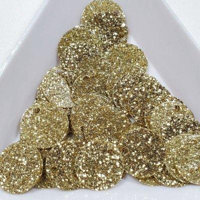画像1: スパンコール1249 トップホール10mm ゴールド 1g
