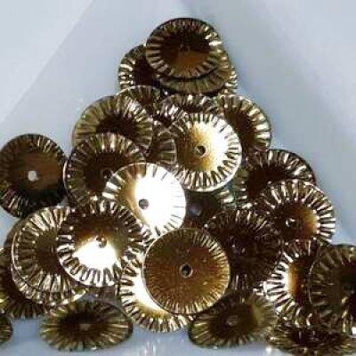 画像1: スパンコール限定255 ソレイユ10mm ゴールド 1g