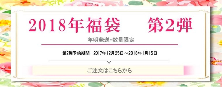 2018年福袋 第2弾 12月25日~予約開始